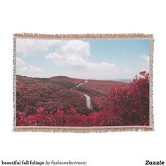 beautiful fall foliage throw blanket
