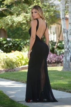 M391-1 Rochie lunga sexy cu spatele gol foto mare