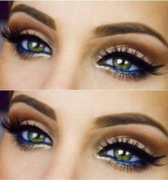 Color Glitter Eye Makeup