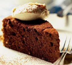 Seriously rich chocolate cake recipe - Recipes - BBC Good Food Very nice ! Tasty Chocolate Cake, Dark Chocolate Cakes, Flourless Chocolate Cakes, Salted Caramel Chocolate, Belgian Chocolate, Malt Loaf, Bbc Good Food Recipes, Dinner Recipes, Cake Truffles