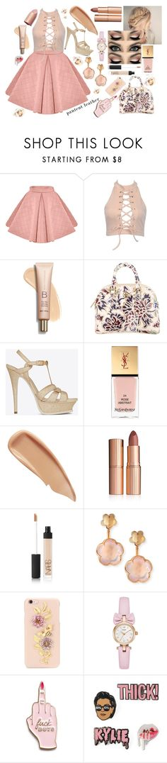 """""""Overdose"""" by galaxy-moon-stars ❤ liked on Polyvore featuring Tory Burch, Yves Saint Laurent, Sisley, Charlotte Tilbury, NARS Cosmetics, Pasquale Bruni, Dolce&Gabbana and Skinnydip"""