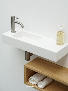 defined by linear straight lines with rounded edges. Ideal for design purposes due to its basic shape. Due to its small size ideal for small toilet rooms. Bathroom Design Small, Bathroom Interior Design, Clever Bathroom Storage, Small Toilet Room, Downstairs Toilet, Toilet Design, Bathroom Toilets, Bathroom Furniture, Basin