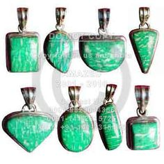 Indian handmade 92.5 Sterling Silver Hallmarked Certified Wholesale natural semi precious studded beautiful handcrafted Cab Pendant Amazonite stone used. per piece weight - 12 to 15 gm approx. Price80 $USD