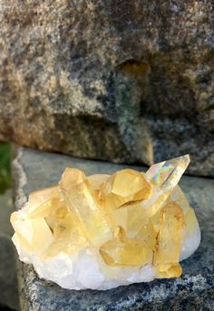 Iridescent Golden Healer Quartz Crystal 65 gm, Arkansas, Reiki, Healing Crystals, Mineral Specimens, meditation Stones, Altar Stone by SacredSpaceMinerals on Etsy
