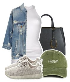 """""""Untitled #898"""" by sassy-akia ❤ liked on Polyvore featuring Fendi, DRKSHDW, R13 and adidas Originals"""