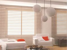 Window blinds and electronic control skylights, motorized cellular shades used in door, glass, middle partition, sunlight room.