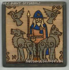 Odin Wood Plaque by debsburntofferings on Etsy