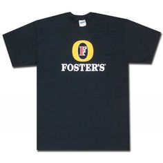 Foster's Classic Logo Black T Shirt. Official from Foster's!