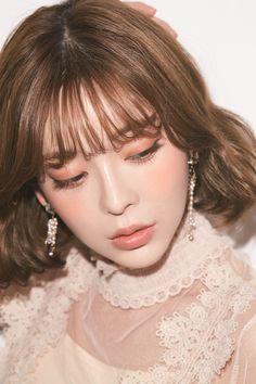 The popular Korean girl reappears again .- The popular Korean girl reappears ♡ 4 points of Teri-chan EYE Korean Makeup Look, Asian Makeup, Korean Beauty, Asian Beauty, Beauty Makeup, Hair Makeup, Hair Beauty, Pretty Makeup, Makeup Looks