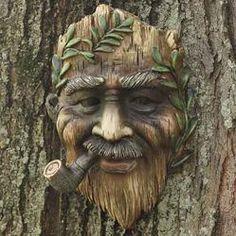 Tree Spirit Face - Fairy Garden Miniatures - Dollhouse Miniatures - Doll Making Supplies - Craft Supplies