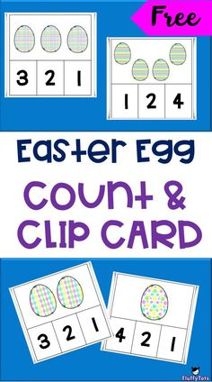 Spring Easter Eggs Count and Clip Cards Preschool Kids Games, Easter Activities For Kids, Pre K Activities, Printable Activities For Kids, Easter Printables, Preschool Learning, Classroom Activities, Classroom Ideas, Easter Eggs
