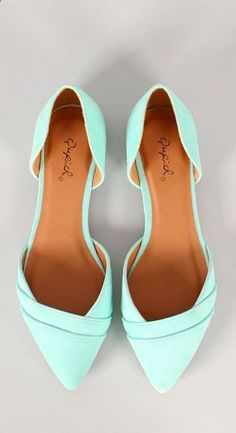 Mint ballet flats - love the cut and color