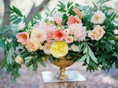 Pink floral centerpiece | Wedding & Party Ideas | 100 Layer Cake