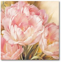 Modern Wall Art on Canvas Square Oil Painting for Bedroom Living Room Office Home Decor,Carnation Red Flower Pattern Artworks,Stretched by Wooden Frame,Ready to Hang,8x8in