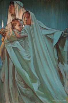 Pictures of Jesus | Escape By Night by Rose Datoc Dall giclee canvas | Cornerstone Art
