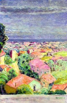 View of Cannet, c.1940 - Pierre Bonnard