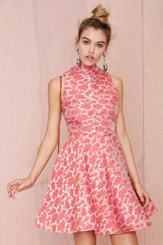 Glamorous Juku Jacquard Dress   Shop Clothes at Nasty Gal