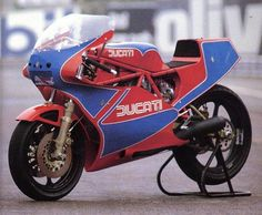 1983-85 Ducati 750 TT1	Ducati 750 TT1	The TT2 and later TT1. These spectacular machines were similar to Tony Rutter's four-time World TT2 Championship-winning TT2 racers. Modeled closely after the factory TT2, the production version also featured a 597cc engine using special two-ring Borgo pistons (weighing only 408 grams). Valve sizes were 41mm and 35mm, and racing camshafts provided 11mm of intake valve lift and 10.5mm of exhaust valve lift. The crankshaft and con-rods were highly…