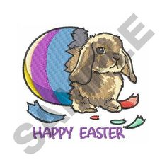 HAPPY EASTER Embroidery Design | AnnTheGran