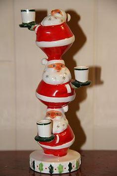 from ebay - joannavail31  Retro Santas make me smile.