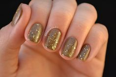 Nailed It.: Polished Perfection's Crow over OPI's A-Taupe the Space Needle