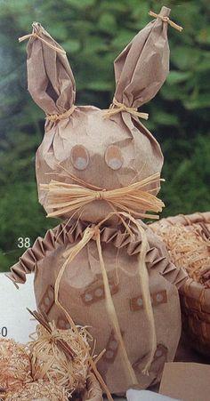 Lapin en papier craft