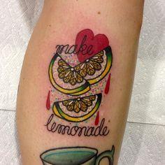 When life gives you lemons... Thank you @cottonkandiprincess I miss you!  #lemon #tattoo by goldlagrimas You can follow me at @JayneKitsch