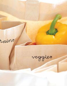 Bag Organization, Grocery Store, Farmers Market, Grains, Artisan, Dairy, Jute Fabric, Veggies, Happy Everything