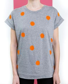Orange Spot Tee // Folk Cycling Clothing, Cycling Outfit, Folk, Orange, Tees, Clothes, Collection, Fashion, Outfit