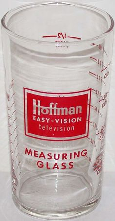 Vintage measuring glass HOFFMAN EASY VISION TELEVISION in n-mint condition