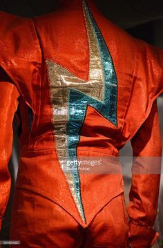 David Bowie Suit, 1972. Design by Freddie Burretti. David Bowie wore this suit onstage during his tour to support The Rise and Fall of Ziggy Stardust and the Spiders from Mars