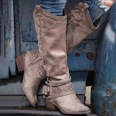 Lace Knee High Boots, Low Heel Boots, Wide Calf Boots, Long Boots, Low Heels, Knee Boots, Heeled Boots, Women's Boots, Fall Boots