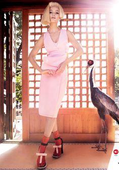 The Emperor's New Clothes I US Vogue I March 2013 I Model: Carolyn Murphy I Photographer: Mario Testino I Editor: Camilla Nickerson.