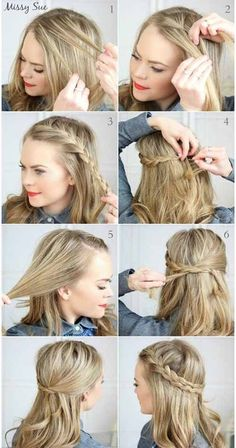 Easy Hairstyles For Shoulder Length Hair Ideas Easy Hairstyles For Shoulder Length Hair. Here is Easy Hairstyles For Shoulder Length Hair Ideas for you. Easy Hairstyles For Shoulder Length Hair 37 ways Cute Everyday Hairstyles, Easy Summer Hairstyles, No Heat Hairstyles, Easy Hairstyles For Medium Hair, Step By Step Hairstyles, Daily Hairstyles, Medium Hair Styles, Straight Hairstyles, Curly Hair Styles
