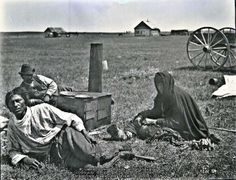 Halfbreed Indians [out-of-work, plains Métis hunters after collapse of the buffalo hunt, JE]. Maple Creek, Saskatchewan, 1884   Geological Survey of Canada