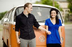 Super cute 60's inspired engagement shoot. Photo by Lauren Larsen Photography. www.wedsociety.com #engagement #photography