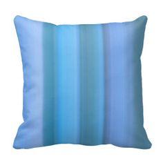 Waterfall Blue Throw Pillow
