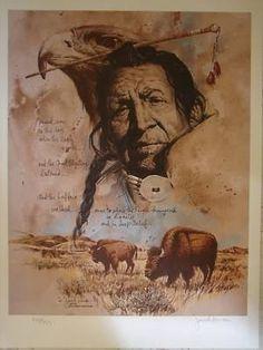 "Jack Hines Montana Artist ""Sitting Bull"" Signed and Num (11/03/2010) kp"