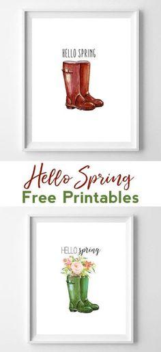 wellington boots printables | spring printables | printable art | home decor | wall art | wall art ideas | spring decor