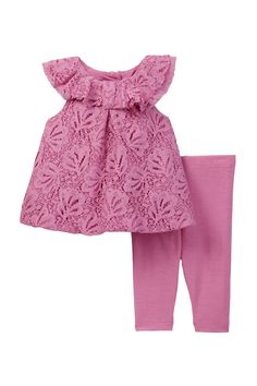 Lace Dress & Legging Set (Baby Girls) by Pippa & Julie on @nordstrom_rack