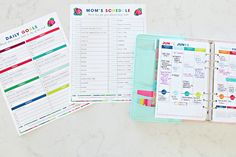 IHeart Organizing Four Week WaitNoMore Organizing Challenge Week 1 Time Management Organization and a link party Daily Organization, I Heart Organizing, Organization Station, Paper Organization, Organizing Ideas, Time Management Printable, Home Management Binder, House Management, Life Binder