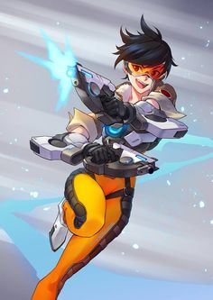 Ten Things You Need To Know About Tracer Overwatch Wallpaper Today Tracer Overwatch, Overwatch Comic, Overwatch Drawings, Game Character, Character Concept, Character Design, Tracer Fanart, Overwatch Wallpapers, Video Game Art