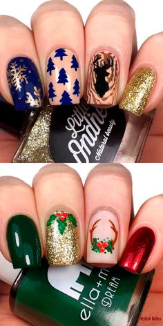 pretty french nails nagel winter and christmas nails art designs ideas 23 Cute Christmas Nails, Xmas Nails, Christmas Nail Art Designs, Best Nail Art Designs, Holiday Nails, Winter Christmas, Cute Nails, Pretty Nails, Gorgeous Nails