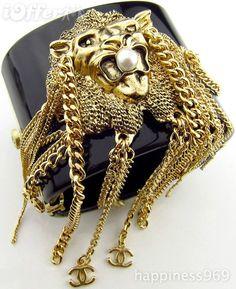 chanel lion cuff bracelet