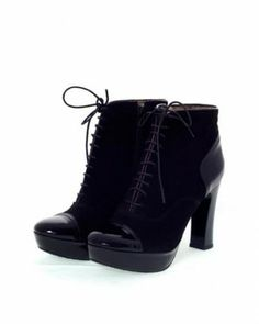 Christian Cole Leather Lace-Up Booties Europe