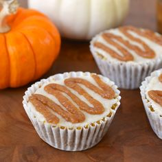 Raw Recipe: Spiced Pumpkin Cupcakes with Vanilla Icing & Ginger Caramel — Recipes from The Kitchn