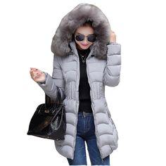 4a2726c445f17 Winter women jacket long cotton Coat super large collar parka coat plus size  thick Nagymaros collar