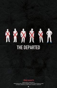 The Departed - minimal movie poster