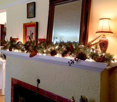 Holiday Mantel Decoration DIY http://allisonsmithdesign.com/no-glue-gun-christmas-edition/