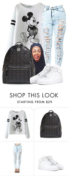 """""""Untitled #78"""" by shalvankea ❤ liked on Polyvore featuring MCM and NIKE"""